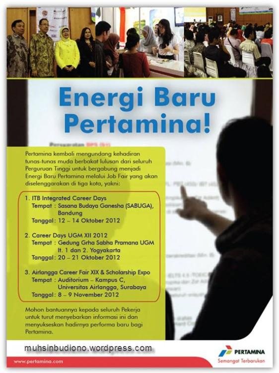 Pertamina Open Recruitment 2012