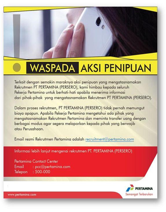 Waspadai Penipuan Recruitment PTM