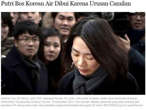 Putri Bos Korean Air dibui