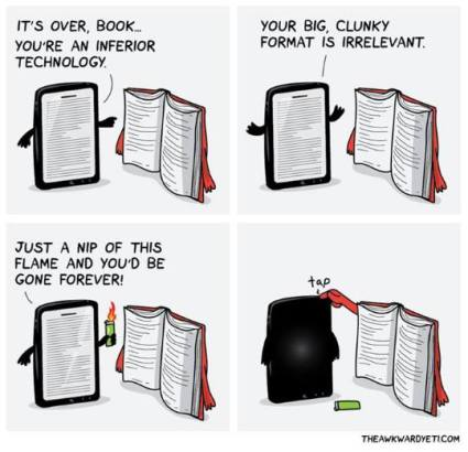Book and Tablet